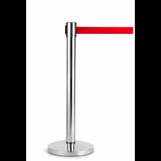 Мобильная стойка ограждения с лентой красного цвета 5 м ST-5-3