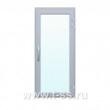 Алюминиевая противопожарная дверь остекленная EIW-30 однопольная