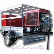 Мотопомпа пожарная Гейзер МП-20/100 П прицеп МЗСА-П(Полная)