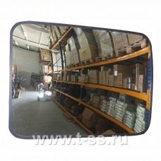 Зеркало обзорное для помещений прямоугольное 400х600 мм