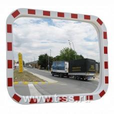 Зеркало дорожное со световозвращающей окантовкой прямоугольное 600х800 мм