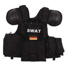 Жилет SWAT боевой быстросъемный черный